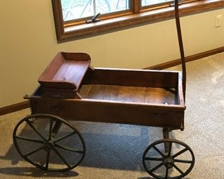Early 20th century child's wood wagon
