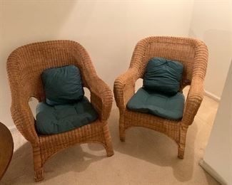 Wicker chairs in great condition.