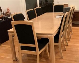 Table can be shortened. Chairs and table in excellent condition. Be ready for that holiday dinner! Complete set is Thomasville.