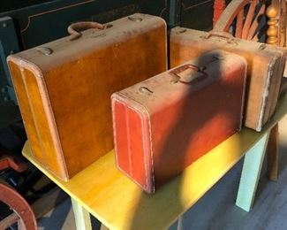 Old luggage, dusty but solid
