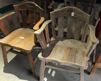 Chairs from the old Corsicana YMCA