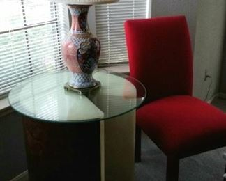 Asian Themed Lamp, Occasional Table