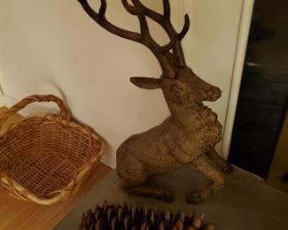 Pair of Ceramic Deer Figurines