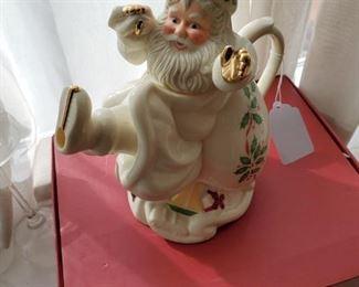 Lenox Santa Teapot