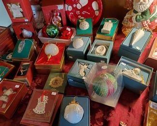 Lots of Lenox Ornaments