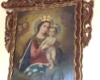 our featured 19th c oil  all original from a church in San Miguel just beautiful