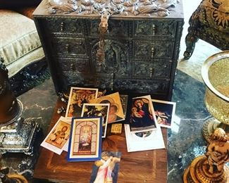our featured very special Barqueno (Peruvian traveling desk rare)  incredible details