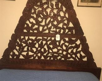 carved wood bed-a most unique find