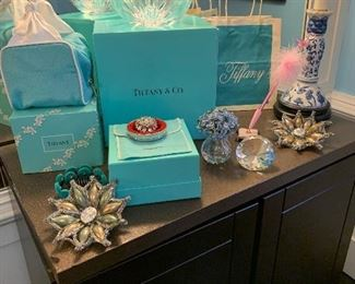 A selection of Tiffany items