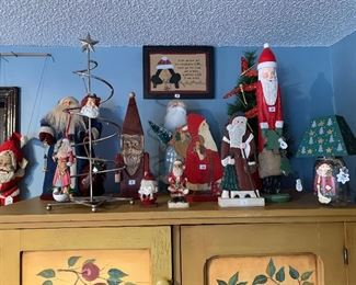 A close up of the Santa collection.