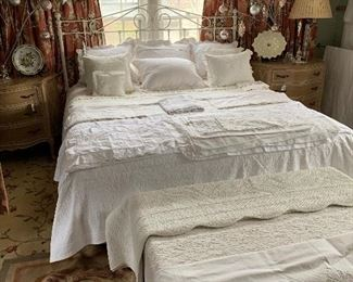 The owners are lovers of beautiful linens I can't begin to tell you what we have to offer you here some items have never been used King, Queen and Twin. Most every item is from Scandina Downs on the Plaza  The best of the best!!