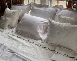 Marble top pillows are filled with down