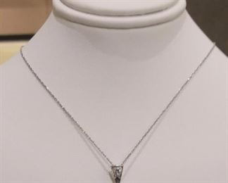 Star Cats Eye Pendant with Diamond in White Gold