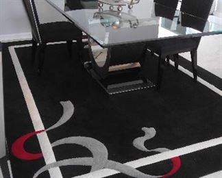 Dining Room Table and Chairs, Custom Rug