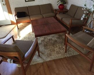4 Piece France & Son and Vejle Stole & Mobelfabrik Rosewood Tables