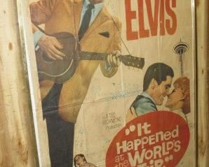 """1963  Framed 77"""" Tall Elvis Presley """"It Happened at the World's Fair"""" Movie Poster"""