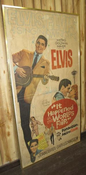 "1963  Framed 77"" Tall Elvis Presley ""It Happened at the World's Fair"" Movie Poster"