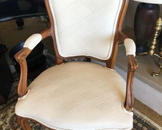 One of matching pair of  arm chairs