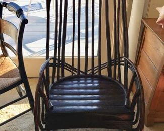 Vintage bentwood rocker -made by Native American Indian  in 1920's