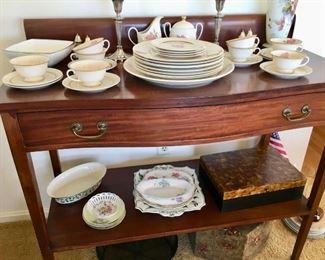 Set of Franciscan china -Cherokee Rose on vintage server