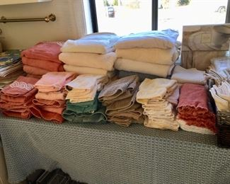 Small section of linens