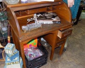 vintage childs roll top desk