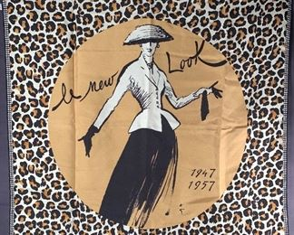 Christian Dior Rene Gruau silk scarf 'Le New Look