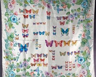 Vintage GUCCI silk scarf 'Flora' design by V.