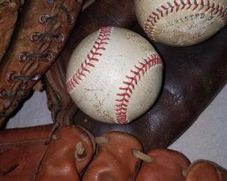 Vintage sporting items. 1940's signed St> Joseph baseballs