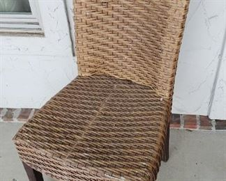 2 Pier One Rattan chairs