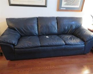 Living Room-One of the 2 leather sofas
