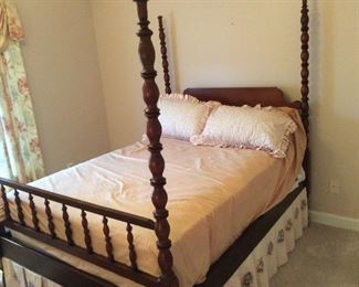 Antique poster bed over 6' tall
