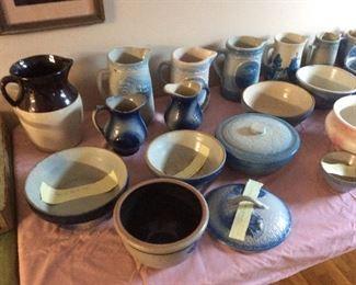 Lots of antique salt glaze pottery