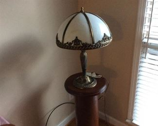 Very old lamp ,has some damage 175.00