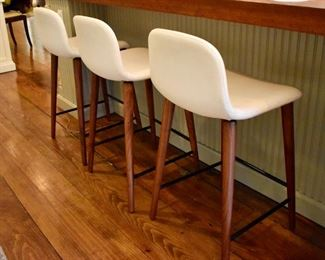 "Set of 3 Omar di Baggio ""Bacco"" counter stools"
