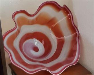 Large Decorative Glass Piece-Christmas Idea