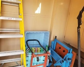 LADDERS, CART, MOBILE WORKBENCH
