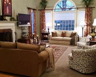 Family room full of fine furniture