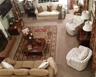 Bird's-eye view of the family room