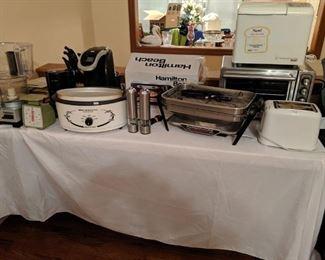 Many small appliances