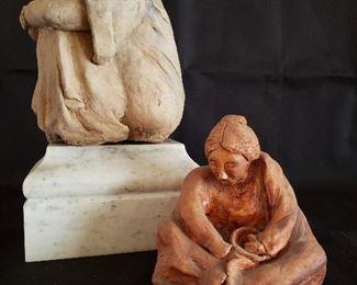 Sculptures in clay