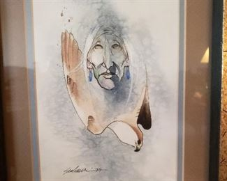 Native art, signed by artist