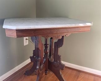 Eastlake  rectangular marble top table