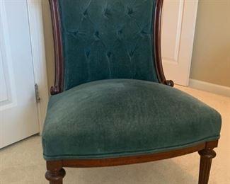 Horse hair antique chair-unarmed