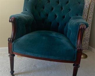 Horse hair antique chair-armed