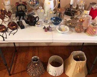 glassware and knick knacks
