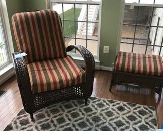 Indoor/Outdoor lounge and ottoman