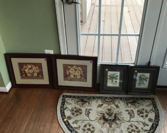 Lots of prints and wall decor