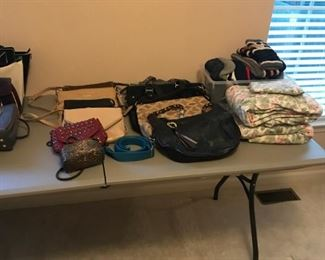 Handbags large and small.  Kate Spade, Coach, others.