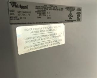 Whirlpool 14 cf refrigerator.  Clean.